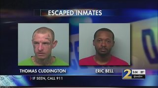 Two inmates shimmy down pipe, escape from West Georgia jail