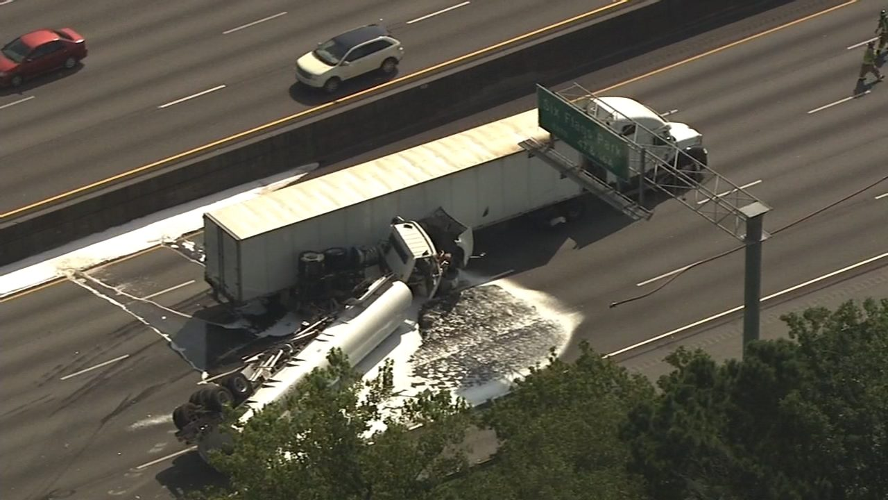 Delays remain on I-20 WB after crash involving tractor