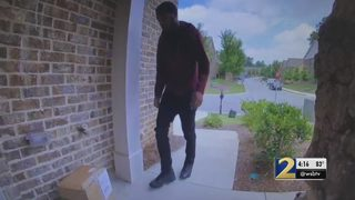 Porch pirate caught on home surveillance stealing toys, children