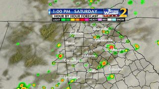 Grab your umbrella: Showers, storms expected throughout weekend