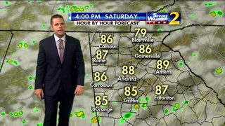 Rain expected to move in Saturday afternoon
