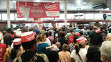 The Varsity held a 90th birthday celebration on Saturday, Aug. 18, 2018, at its Atlanta location. Customers were able to order any item off the menu for 90 cents to mark the occasion. (Photo: MATT KEMPNER / AJC)