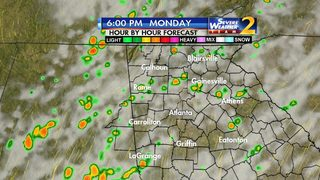 Widespread showers, storms possible throughout the day