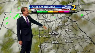 Isolated showers expected Monday evening