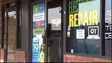 Man shot 4 times trying to rob electronics store.