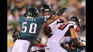 Falcons fall to defending Super Bowl champs Philadelphia Eagles in season opener