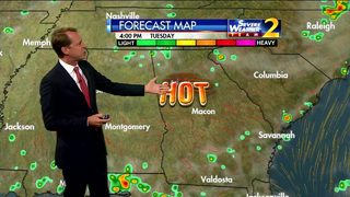 Expect above averages temps on hot Tuesday afternoon