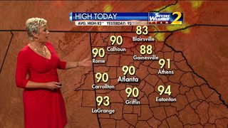 Hot Tuesday afternoon ahead