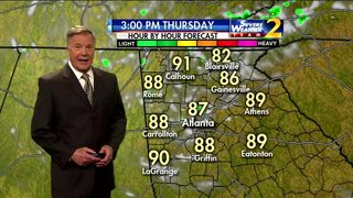 Warm, partly cloudy skies Thursday morning
