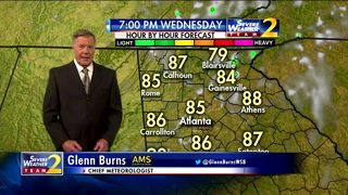 Warm temps, partly cloudy skies Wednesday evening