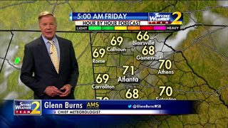 Mostly clear to partly cloudy skies Friday