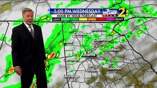 Partly cloudy skies Wednesday morning
