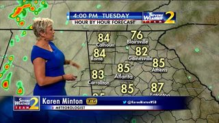 Scattered showers possible for Tuesday afternoon