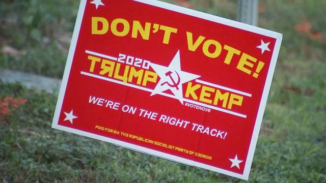 don t vote signs pop up in several atlanta neighborhoods wsb tv