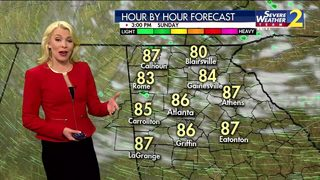 Temperatures close to 90 degrees Sunday