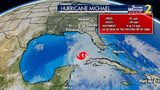 Hurricane Michael track as of 8 p.m. Monday