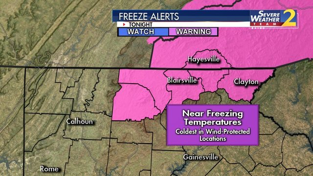 WARNING: 'Coldest night' in months expected; freeze warning ahead