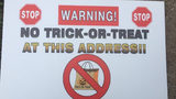 Georgia sheriff puts 'no trick-or-treat' warning in yards of sex offenders.