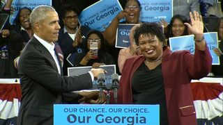 Former President Obama visits Atlanta to campaign with Stacey Abrams