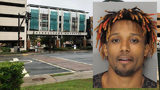 Inmate escapes after jumping from 2nd story hospital window in handcuffs.