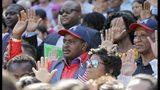 September 16, 2016 - Atlanta - 755 new citizens take their oath of allegiance at Turner Field.