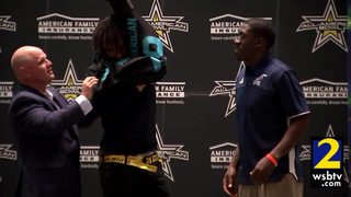 Jadon Haselwood gets his All-American jersey