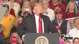 President Trump campaigns in Macon for Brian Kemp