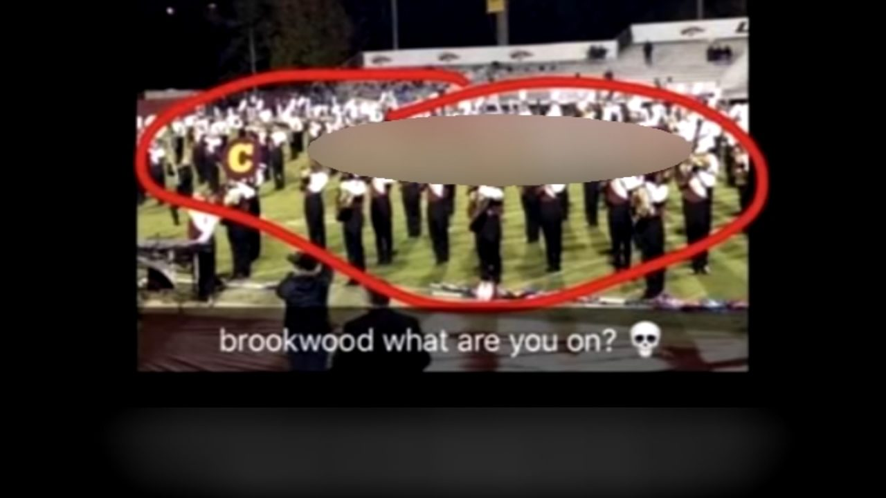 High School Band Sign High School Halftime Show Included Racially