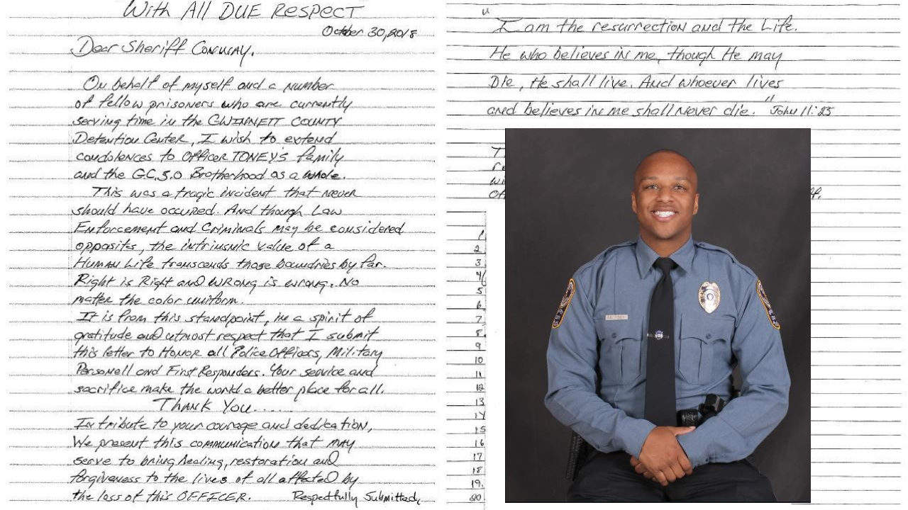 OFFICER ANTWAN TONEY GWNNETT COUNTY HONORED: Inmates in