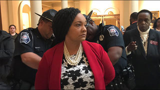 State senator among 15 arrested in election protest at state Capitol