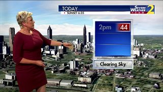 Cold temperatures coming in Thursday afternoon