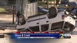 High-speed chase leads to crash involving stolen car, cruiser