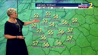 Temperatures in the 50s Tuesday afternoon