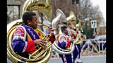 A high school marching band participates in The Children's Christmas Parade. (JONATHAN PHILLIPS / SPECIAL)