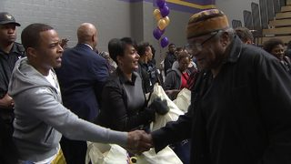 Atlanta rapper joins mayor to hand out turkeys to senior citizens