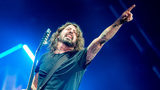 QUEBEC CITY, QC - JULY 09: Dave Grohl of The Foo Fighters performs as the headliner on the mainstage at The Plains of Abraham in The Battlefields Park during day 5 of the 51st Festival d'ete de Quebec (FEQ) on July 9, 2018 in Quebec City, Canada