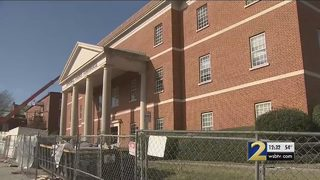 Roof of Rockdale County Courthouse begins to cave in