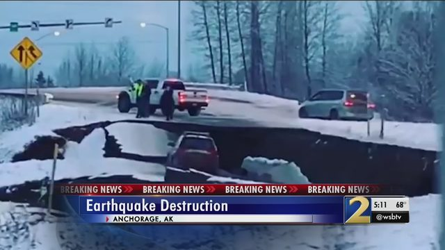 ANCHORAGE ALASKA EARTHQUAKE: Massive earthquake crumbles roads