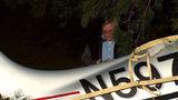 Investigators at scene of a small plane crash on the KSU campus