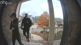 Doorbell camera video shows duo accused of breaking into homes across metro