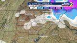 Snowfall amounts through Monday morning