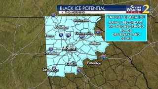 Drivers urged to watch out for black ice this morning