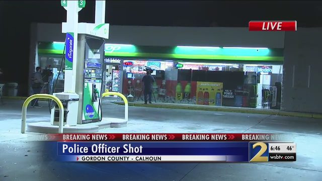 OFFICER SHOT CALHOUN: Officer shot while investigating smell