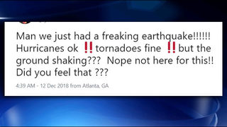 Georgia reacts to the rare earthquake