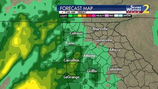 Rain moves in overnight, expected to