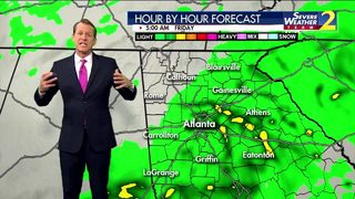 Rain moves in overnight, expected to stick around Friday