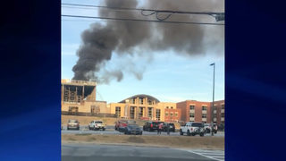 Fire breaks out in new construction at Walton High School