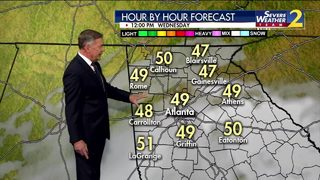 Temps in the upper 30s, low 40s Wednesday morning