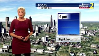 Clouds increasing later today
