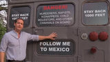 """FILE: Michael Williams, GOP candidate for governor, and his """"deportation bus."""""""